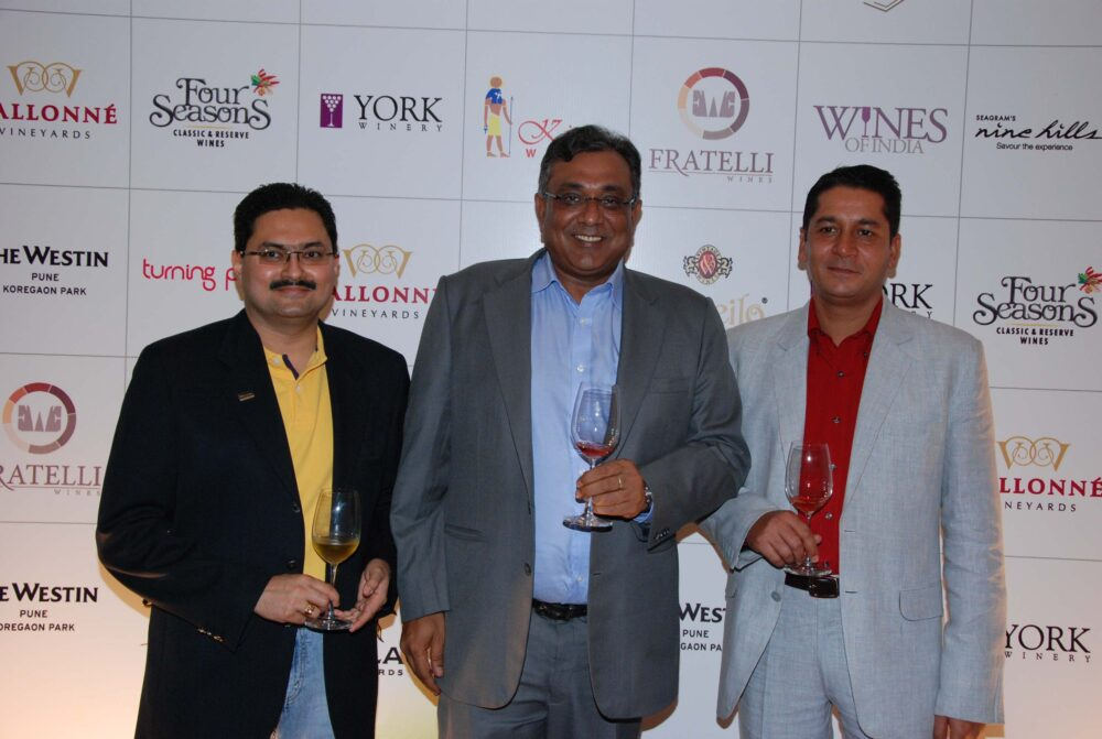 From Left to right Sujeet Kumar - Dilip Puri - Vikas Malik at Wines of India at The Westin Pune Koregaon Park.jpg